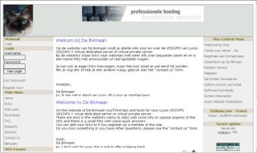 Een website met info en tips over de Virtual Dedicated Server van Lycos